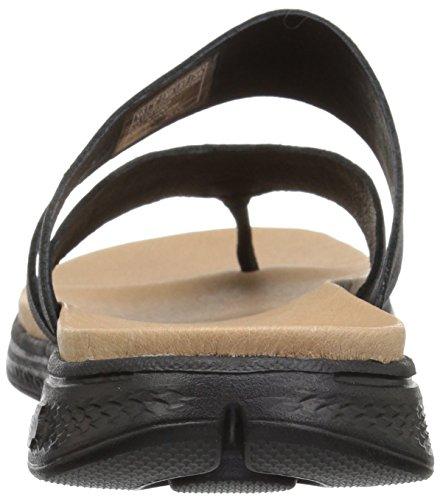 Go Luxe The ON Black Sport Sandals Skechers Women's qwAZFOn44x