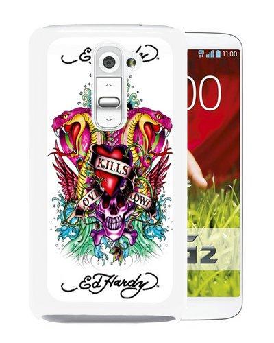 LG G2 Case,Ed Hardy LG G2 Screen Shell Case,Fashion Cover ()