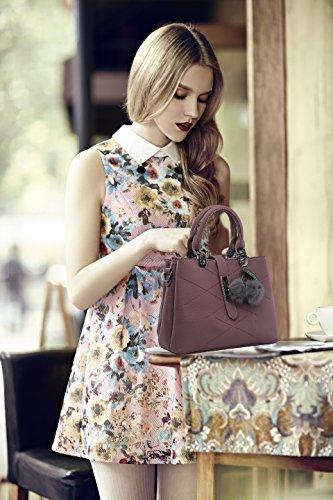 VANCOO 2017 nuove signore di modo delle ondate signore di hangbags Top-manicotto sacchetto di spalla delle donne del sacchetto del sacchetto femminile Porpora