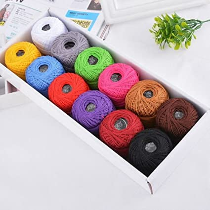 Amazon Mixed Color Crochet Thread Lot Cotton Sewing Threads