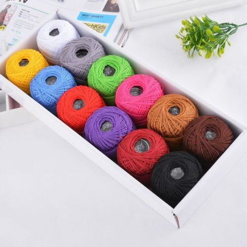 Mixed Color Crochet Thread Lot Cotton Sewing Threads Embroidery Floss Knitting Crochet Patterns Cotton 29x11cm 1set 12pcs - Fine Metallic Nylon Thread