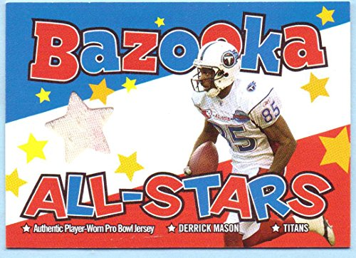 Derrick Mason 2004 Topps Bazooka All-Stars Game Worn Pro-Bowl Jersey #BAS-DM - Tennessee Titans