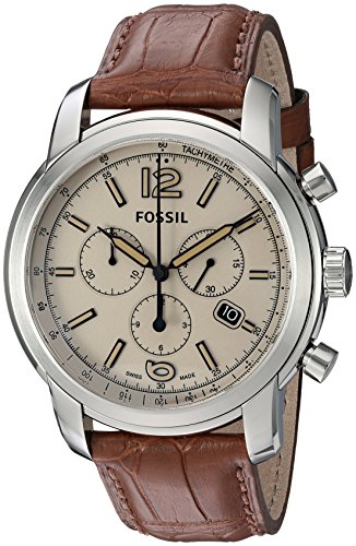 Fossil-FSW7007-Swiss-FS-5-Series-Quartz-Chronograph-Alligator-Watch-Brown