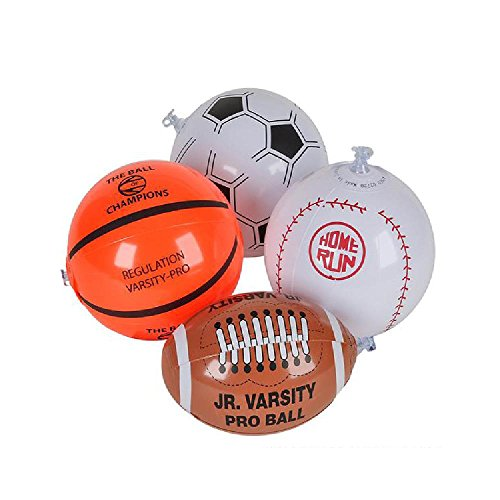 6'' Sports Ball Inflate by Bargain World