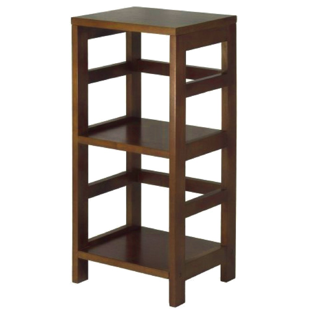 Telephone Table with Shelves Espresso Wooden Small Tall Narrow Classic Telephone Side Table Telephone Stand Sofa and Chairside Table eBook by Easy&FunDeals by EFD