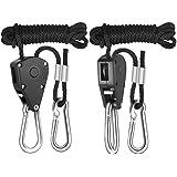 iPower 1/8 Inch 8-Feet Long Adjustable Heavy Duty Rope Clip Hanger, Reinforced Metal Internal Gears,150lb Capacity
