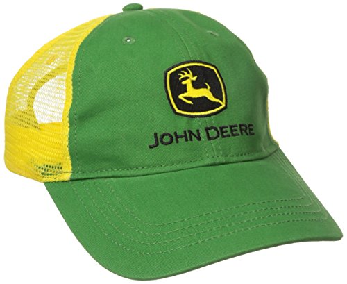 John Deere Big Boys' Trademark Trucker Ball Cap, Green/Green, Youth John Deere Youth Cap