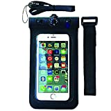 H2NO® Universal Waterproof Cell Phone Carrying Case for all Apple iPhones including the 6 Plus, Samsung Galaxy & other similar sized devices - IPX8 Certified to 100 Feet. Lanyard and Armband Included.