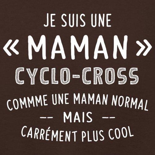 une maman normal cyclocross - Femme T-Shirt - Maron Foncé - L