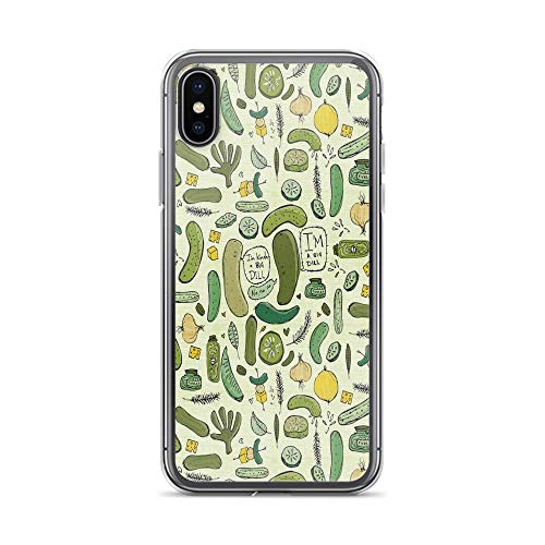 iPhone X Case iPhone Xs Case Clear Anti-Scratch Pickles Cover Phone Cases for iPhone X/iPhone Xs, Crystal Clear