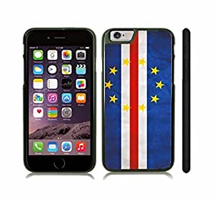 Case Cover For Ipod Touch 4 with Cape Verde Flag Distressed Look Design Snap-on Cover, Hard Carrying Case (Black)