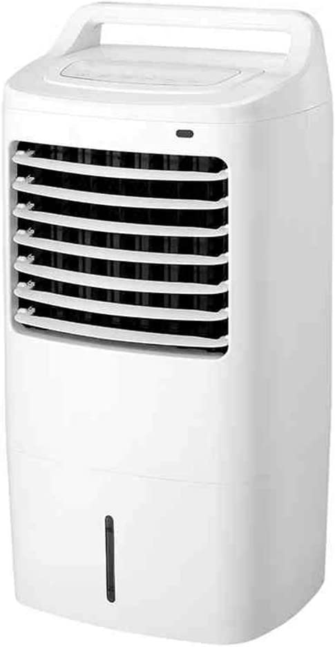 MEIDUO Ventiladores 55W Enfriador de aire evaporativo portátil con refrigeración, ventilador y función de deshumidificador, 3 velocidades de ventilador con modo de suspensión, control remoto y temporizador programable de 7 horas Oscilación