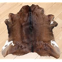 Premium Western Calf Hide - Beautiful Black & White Reddish Cowhide - Luxurious Rug - Approx 76 cm x 76 cm - B43
