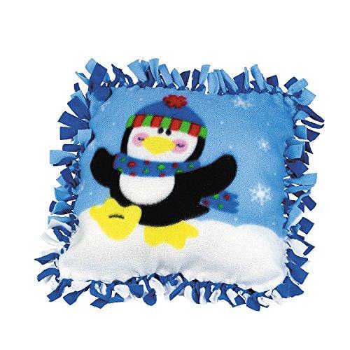 Fleece Penguin Tied Pillow Craft Kit - Crafts for Kids & Novelty Crafts ()