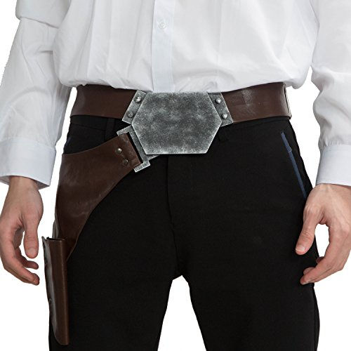Adult Han Solo Belt Star Cosplay Wars PU Holster Belt Props Adjustable 2016