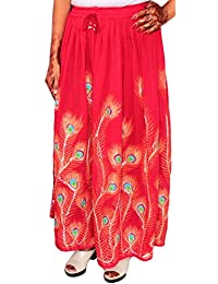 Womens Indian Long Skirts Sequins Ankle Length India Clothing