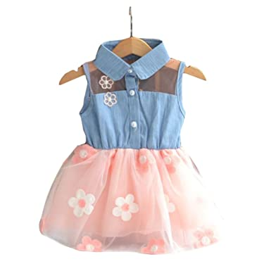 6acdf3f0d Hrph Fashion Cute Baby Girls New Toddler Clothes Denim Top Sun ...