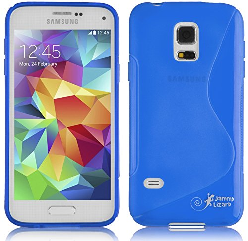 S Line Flexible TPU Protective Case for Samsung Galaxy S5 Mini Blue - 1