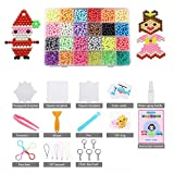 LEEGOAL Fuse Beads Refill, Water Spray Beads Set Compatible Aquabeads Beados Art Crafts Toys