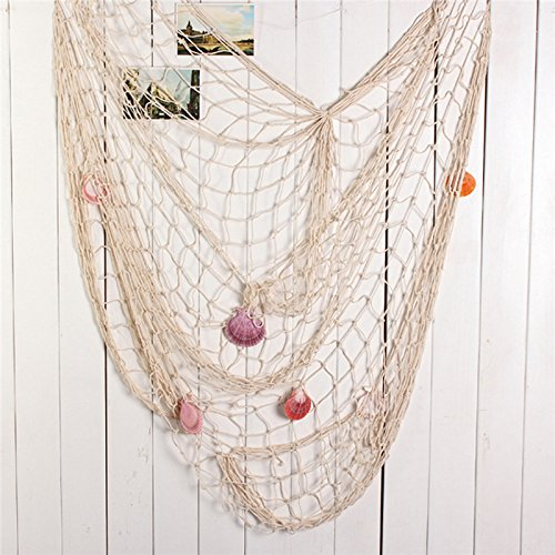 Eagle-iRoot-Creative-Duty-Cotton-Fishing-Net-With-Real-Seashells-Home-Wall-Decor-Measures-Approx-39-Width-x-78-Length-100-Satisfaction-Guaranteed
