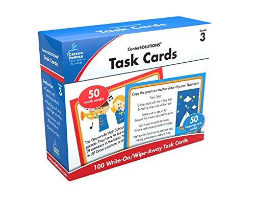 Carson-Dellosa Task Cards Learning Cards Grade 3