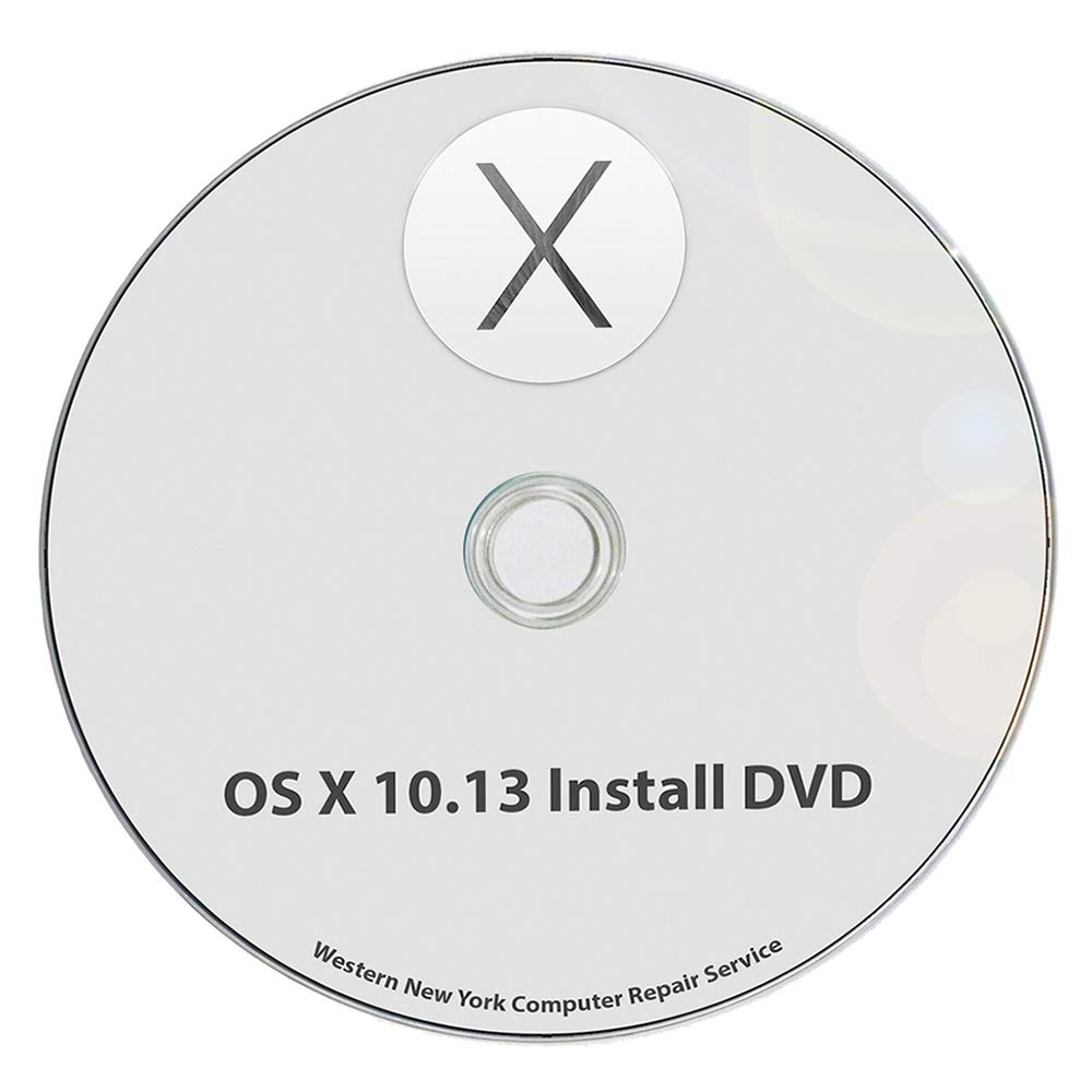 Mac OS X 10.13 High Sierra Full OS Install - macOS Reinstall/Recovery Upgrade Downgrade/Repair Utility Complete Factory Reset Disc CD DVD Drive Disk by Fast Macs Repair