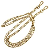 ONBLUE BL-G 10MM Flat Metal Iron Strap Chain for Clutch Wallet Shoulder Bags 47