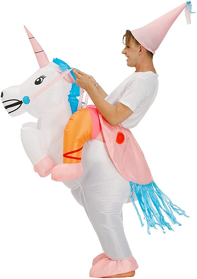 Amazon.com: Disfraz de unicornio inflable para Halloween ...