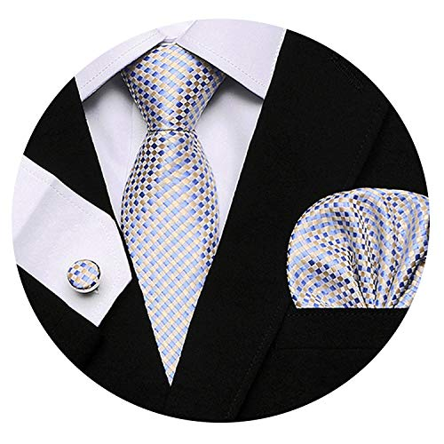 - Men`s Tie 100% Silk Red Plaid print Jacquard Woven Tie + Cufflinks Sets For Formal Wedding Business Party,S03