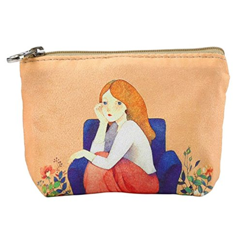 Purses Canvas Girl Purse Handbag Coin Small Cartoon Ladies Iron Wallet Wallet Zipper Butterfly Women nFBqwT