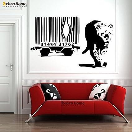 Banksy leopardo Escape código de barras jaula coche creativo ...