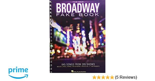 Broadway Fake Book