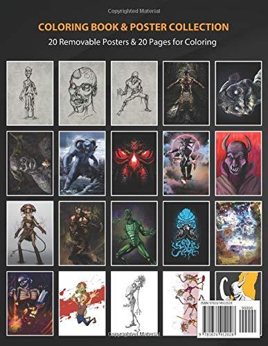 Coloring Book & Poster Collection: Monsters Zombie #1 Comics: Amazon.es: Coloring, MonstersMU, Coloring, MonstersMU: Libros en idiomas extranjeros