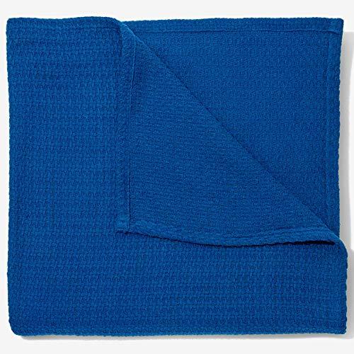 (BrylaneHome Bh Studio Primrose Cotton XL Blanket - Marine Blue, Full/Queen)