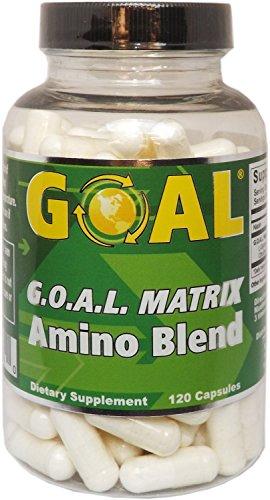 HGH Natural Boosting Amino Acids Blend GOAL Matrix | 120 Capsules (L-Glycine L-Ornithine L-Arginine L-Lysine) Slow Aging Process, Boost Energy, Grow Muscle & Improve Sleep for Men & Women ()