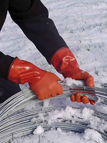 Atlas Showa - Small (24-Pair) - Cold Weather Double-Dipped PVC Freezer Work Gloves with Insulated Acrylic Liner & Rough Grip - Orange - 460 by Atlas (Image #3)
