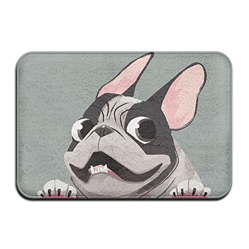 Bulldog Pied French (Pied Brindle French Bulldog Indoor Outdoor Entrance Rug Non Slip Standing Mat Doormat Rugs For Home)