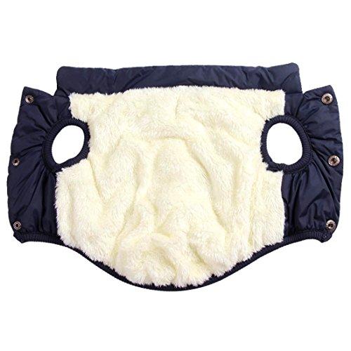 Product image of JoyDaog 2 Layers Fleece Lined Warm Dog Jacket for Winter Cold Weather,Soft Windproof Large Dog Coat, Blue XXL
