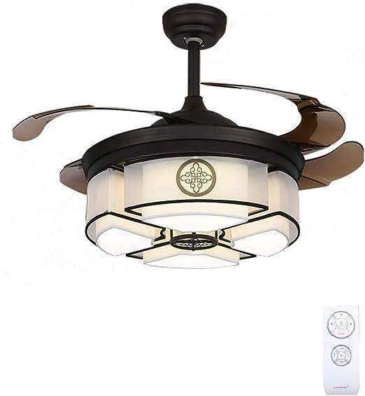 Ventilador de techo Mute Antiguo con Control Remoto Luz de Tres ...