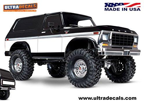 Ultradecals Dark Wood Traxxas TRX-4 / TRX4 Ford Bronco Body Skin Wrap Decal Sticker (White)