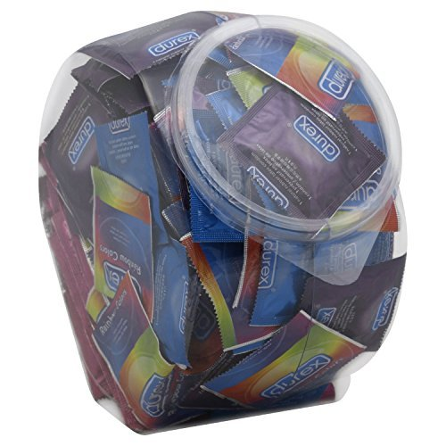 Durex Variety Fish Bowl, Assorted Premium Lubricated Condoms, 288 Count Pack by Durex