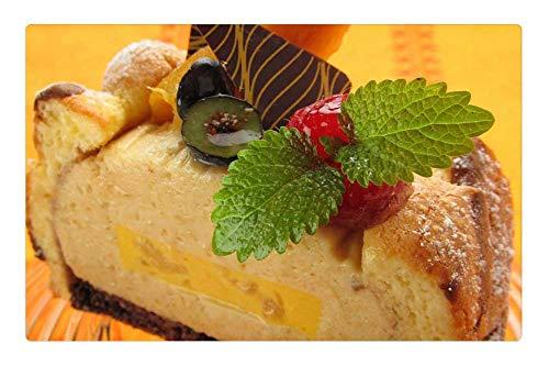 - Indoor Floor Rug/Mat (23.6 x 15.7 Inch) - Cake Tahiti Mango Dessert Fruit Sweet Suites
