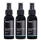 Mask Bathroom Spray 2oz (3 Pack), Santorini Breeze Fragrance, Toilet Spray, Before You Go Deodorizer, Best Value Air Freshener Poo Poop Spray, Perfect for Travel! Risk Free!