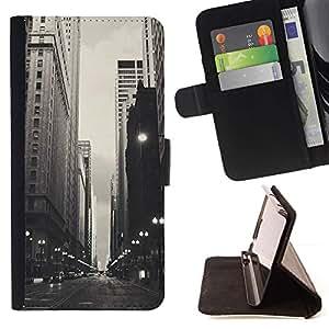 Momo Phone Case / Flip Funda de Cuero Case Cover - Negro Blanco Calles;;;;;;;; - Samsung Galaxy S6