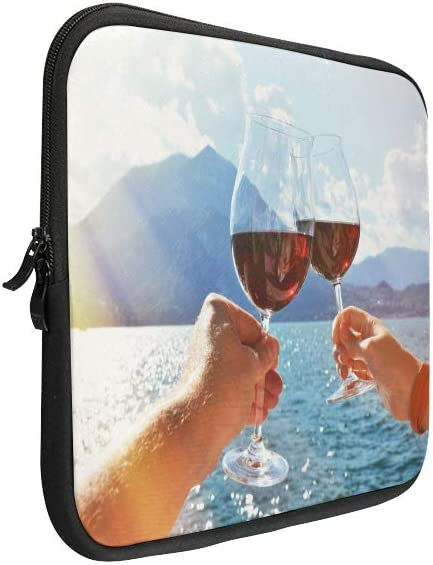 Unique Custom Cheers with Two Glasses in Hand Print Laptop Briefcase for Men Soft Laptop Protection Case Briefcase Protective for MacBook Air 11