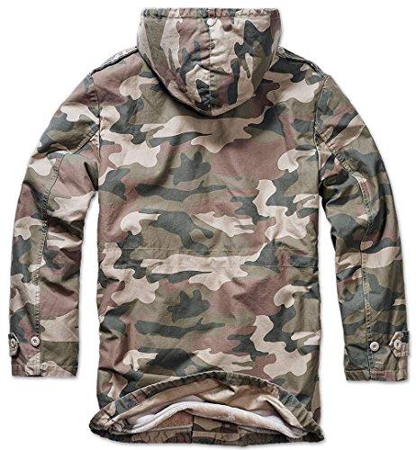 Brandit Light Olive Winter Parka Jacket Af Woodland rP8qvXrx