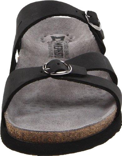 Mephisto Womens Hannel Nubuck Sandals Black