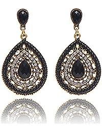Bohemian Ear Studs Earrings For Women Black Ethnic Fashion Earring Jewelry by TOPUNDER