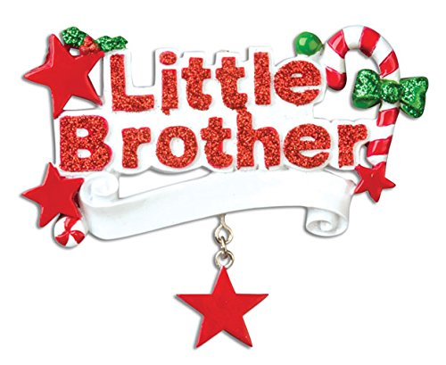 PERSONALIZED CHRISTMAS ORNAMENTS FAMILY - LITTLE (Little Brother Ornament)