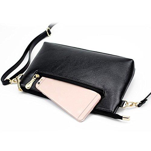 Bag correa Moda de Messenger coreana Solid cuero negro bolsas Laides Casual Zipped Espeedy mujeres Color Girls ajustable Shoulder Baw0nqd0